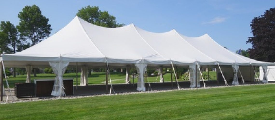 beautiful white events or wedding tent